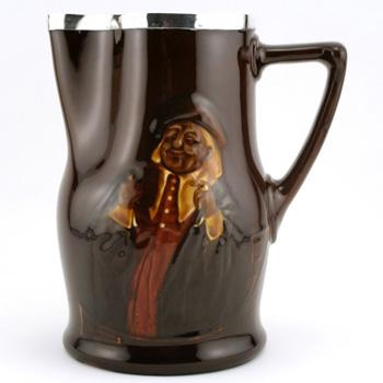 John Barleycorn Pitcher (Silver Rim) - Royal Doulton Kingsware