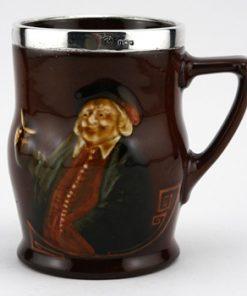 John Barleycorn Tankard Silver Rimmed - Royal Doulton Kingsware