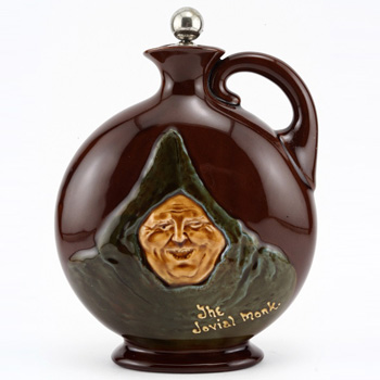 Jovial Monk Flask with Stopper - Royal Doulton Kingsware