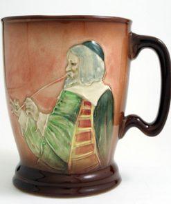 Man Smoking (Airbrushed Cup) - Royal Doulton Kingsware