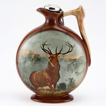 Monarch Glen Flask, Circular - Royal Doulton Kingsware