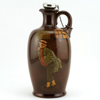 Mr. Pickwick Bottle with silver stopper - Royal Doulton Kingsware