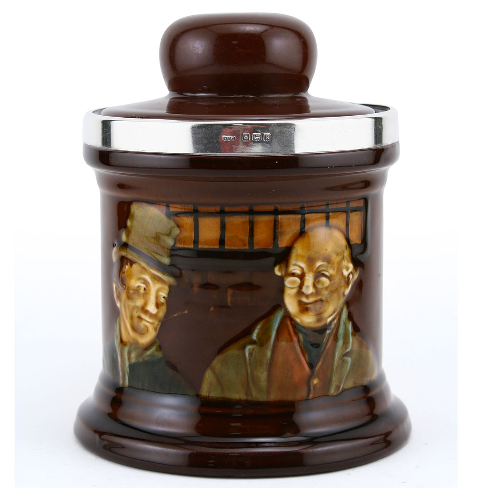 Mr Pickwick & Sam Weller Tobacco Jar - Royal Doulton Kingsware