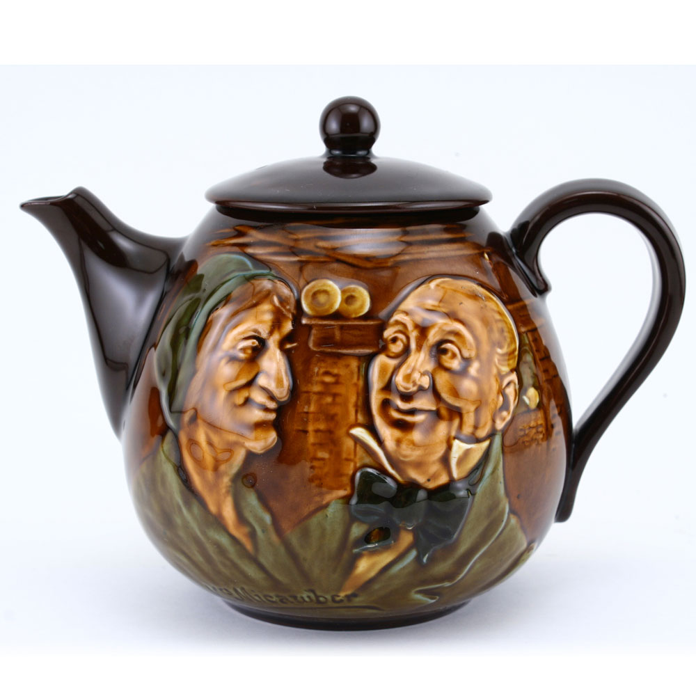 Mr and Mrs Micawber Teapot - Royal Doulton Kingsware