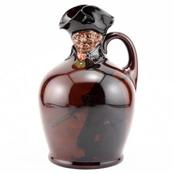 """Night Watchman Modelled Head Bottle 8""""H - Royal Doulton Kingsware"""