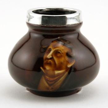 Pecksniff Vase (Silver Rim, Mini) - Royal Doulton Kingsware