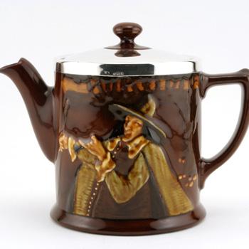 Pied Piper Teapot w/ Silver Lid - Royal Doulton Kingsware