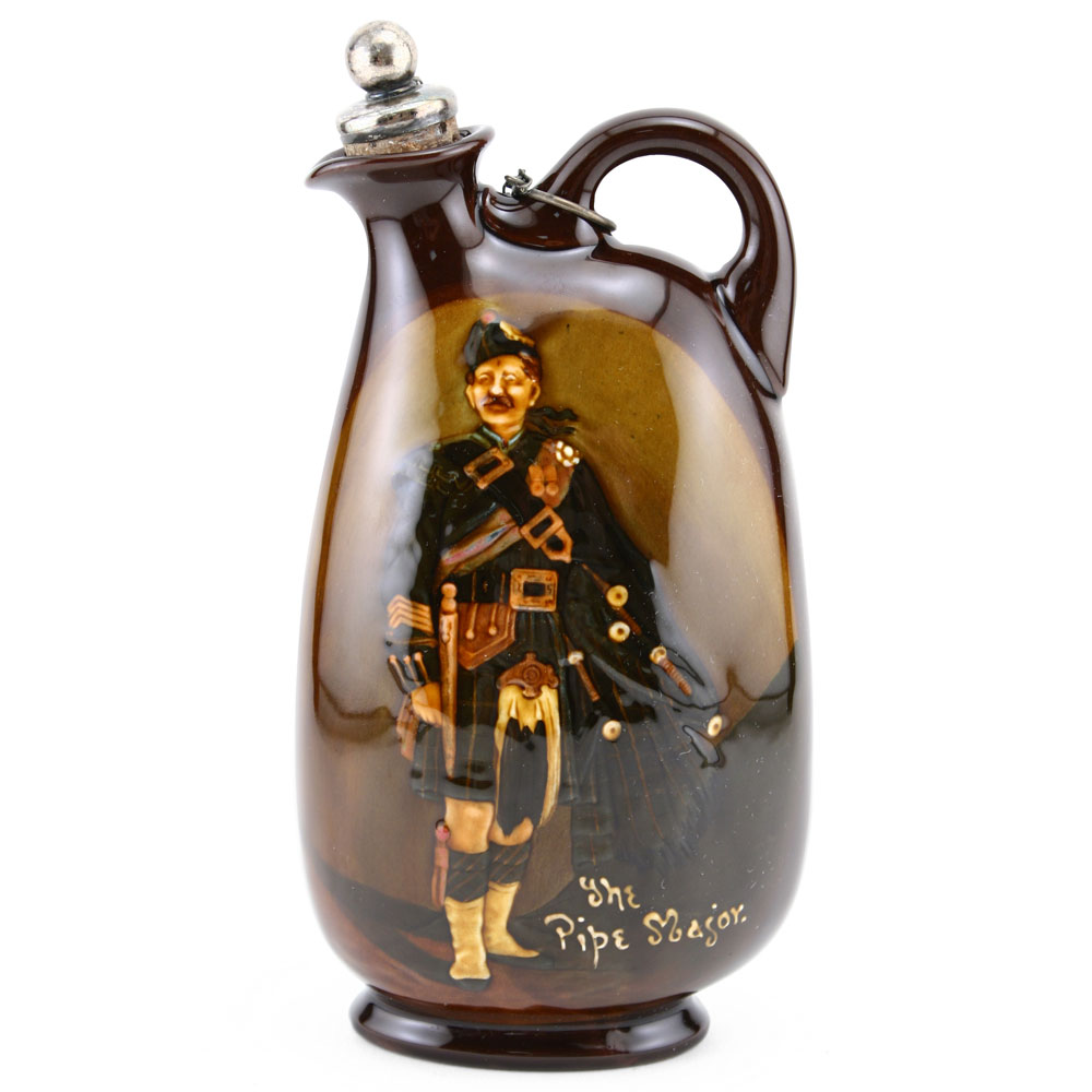 Pipe Major Flask - Royal Doulton Kingsware