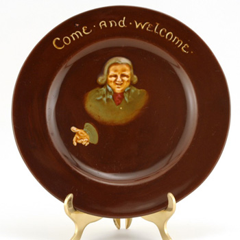 Plate Come and Welcome - Royal Doulton Kingsware