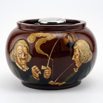 Smokers Tobacco Jar, Round - Royal Doulton Kingsware