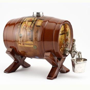 Tavern Scene Barrel, Rare Color - Royal Doulton Kingsware