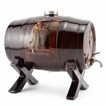 Tavern Scene Barrel on Stand - Royal Doulton Kingsware