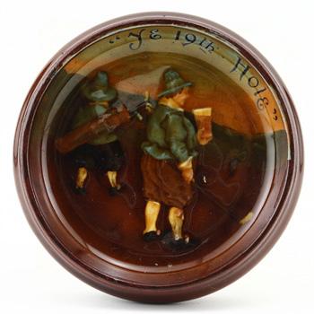 Ye 19th Hole Dish - Royal Doulton Kingsware