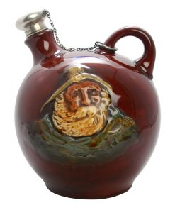 Kingsware Fisherman Globular Flask with Stopper (Variation) - Royal Doulton Kingsware