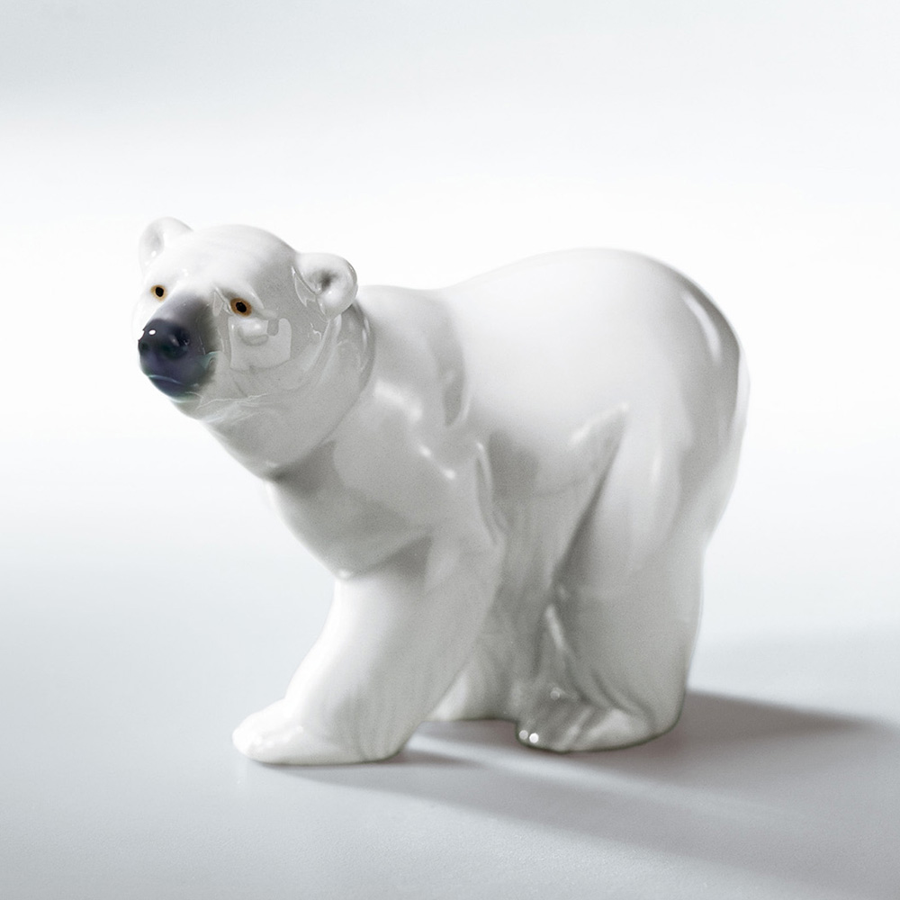 Attentive Polar Bear 01001207 - Lladro Figurine