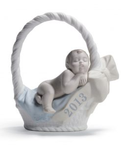 Born in 2013 -  Boy with fair skin 01018381 - Lladro Figurine