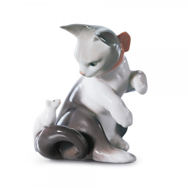 Cat and Mouse 01005236 - Lladro Figurine
