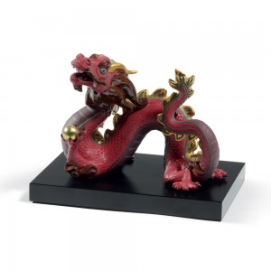 The Dragon (Red) 01008613 - Lladro Figurine