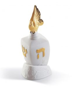 Dreidel with Dove (Re-Deco) 01007097 - Lladro Dreidel