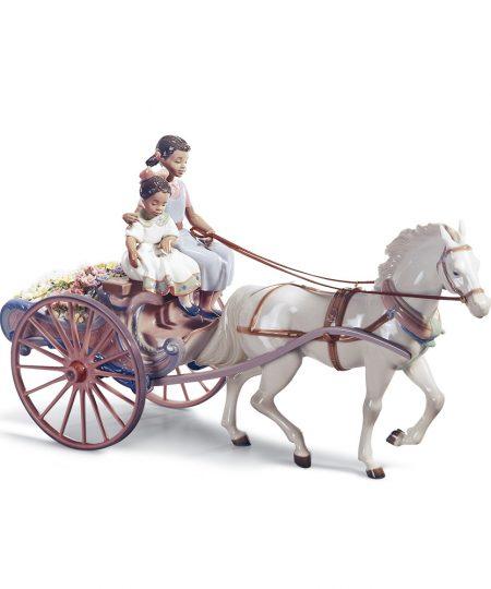 Flower Wagon 01001784 - Lladro Figurine