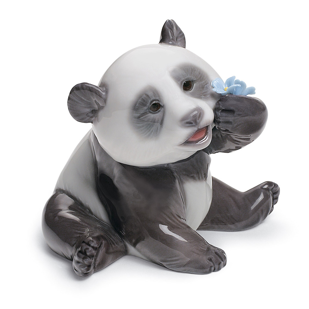 A Happy Panda 01008357 - Lladro Figurine