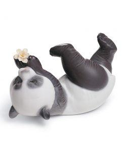 A Joyful Panda 01008356 - Lladro Figurine