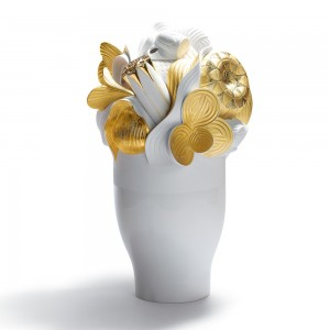Large Vase (Golden) 01007903 - Lladro Vase