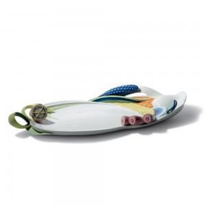 Multi-colored Naturofantasic Tray 1007918 - Lladro Vase