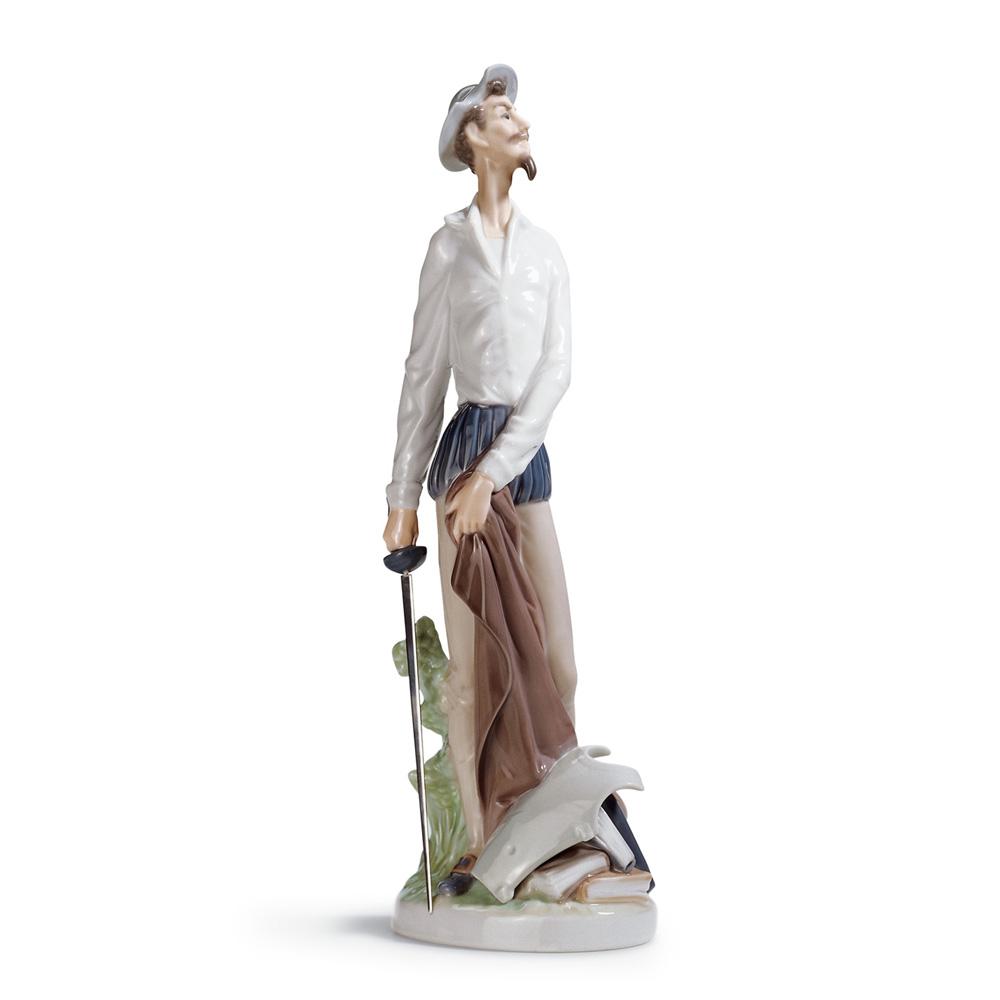 Quixote Standing Up 01004854 - Lladro Figurine