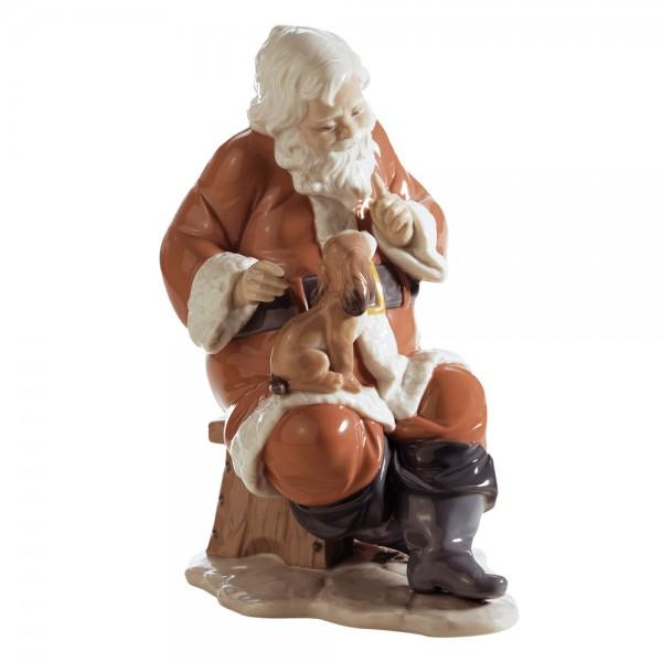 Santas Little Secret 01006890 - Lladro Figurine