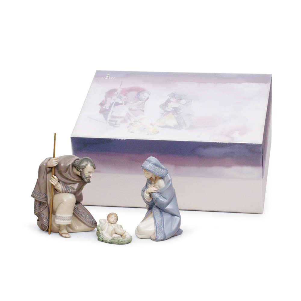 Silent Night 3pc. Set 01007804 (From the Nativity Series) - Lladro Figurine