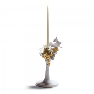 Single Candlehold (Golden) 01007963 - Lladro Candleholder
