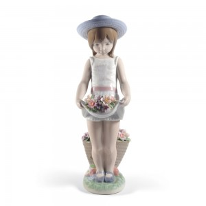 Skirt Full of Flowers 01008674 - Lladro Figurine - 60th Anniversary Collection
