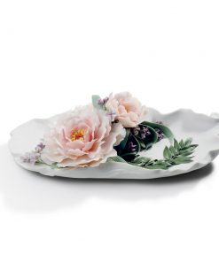 Tray with Peonies 1008650 - Lladro Tray