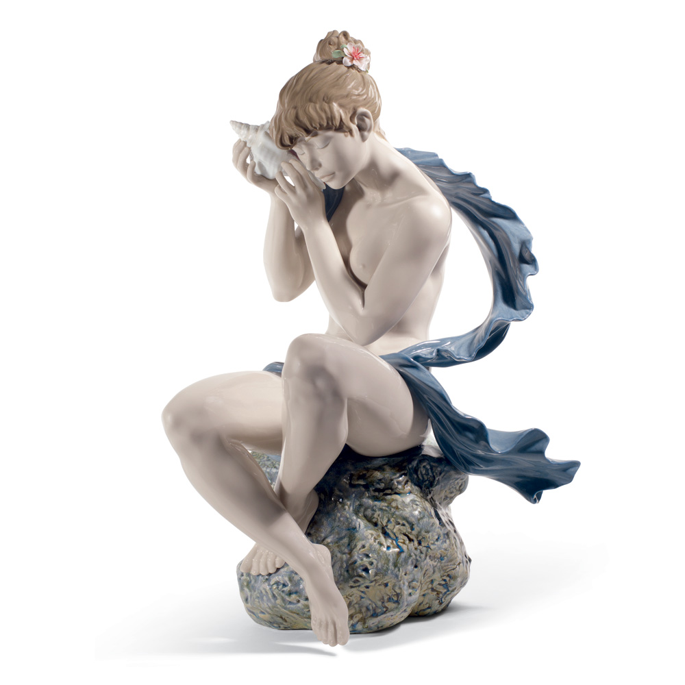Whispers from the Sea (Blue Shawl) 01008691 - Lladro Figurine