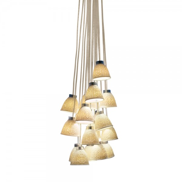 18-Lithophane Chandelier USA (LED) 01017183 - Lladro Chandelier