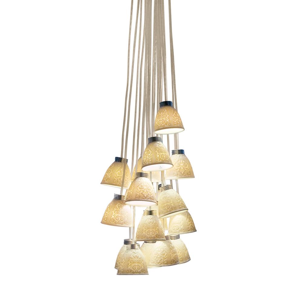 18-Lithophane Chandelier USA (LED) 01017183 - Lladro Chandelier