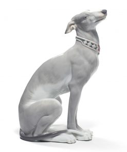 Attentive Greyhound 01008607 - Lladro Figurine