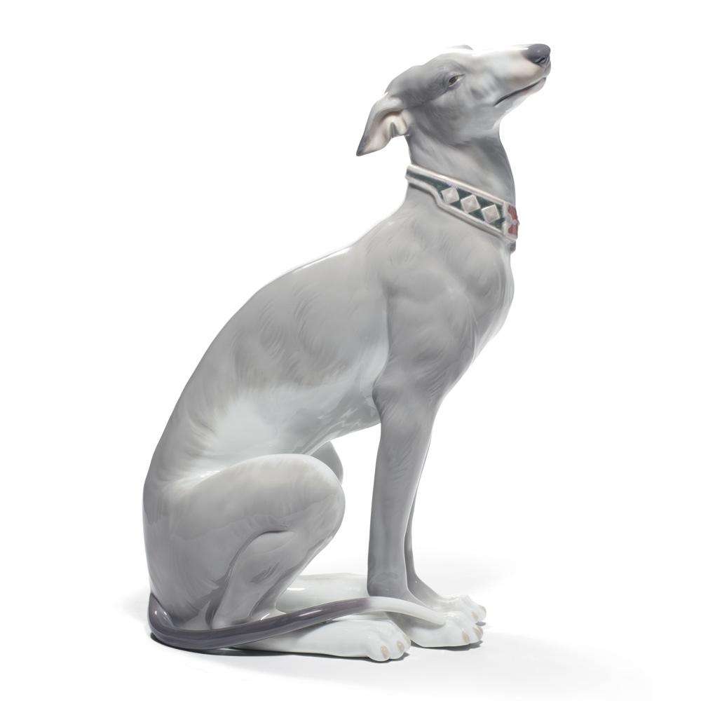 Attentive Greyhound 01008607 - Lladro Figurine