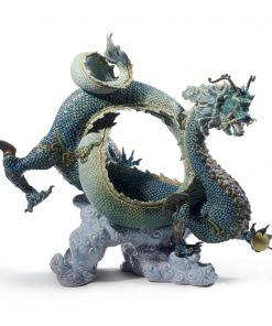 Auspicious Dragon (Green) 01008563 - Lladro Figurine