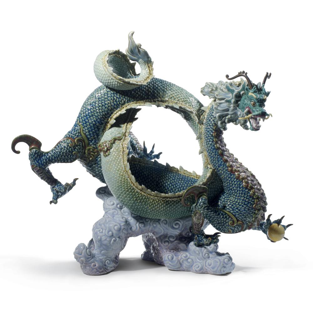 Auspicious Dragon (Green) 01008563 - Lladro Figurine