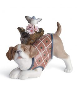 Blossoms for the Puppy - 01008381 - Lladro Figurine