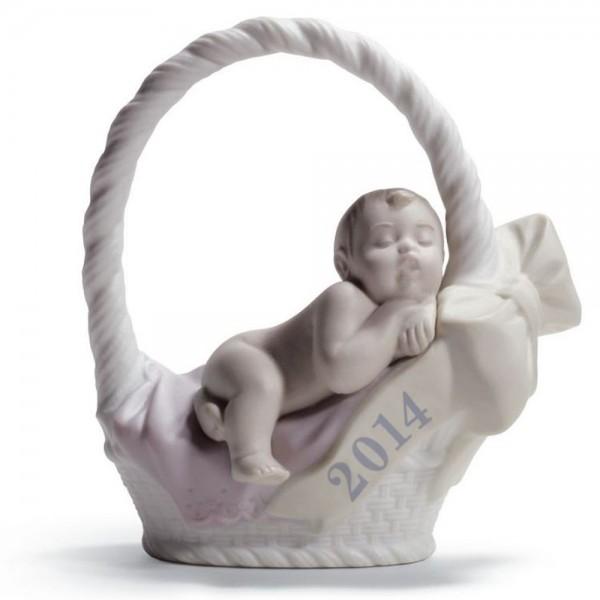 Born in 2014 -  Girl (with fair skin) 01018394 - Lladro