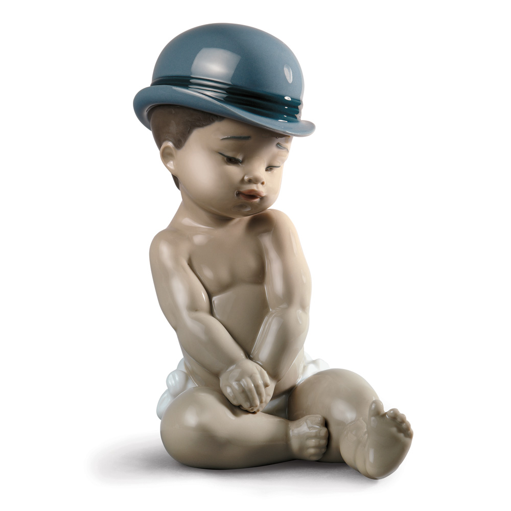 Boy with Bowler Hat - Lladro Figurine