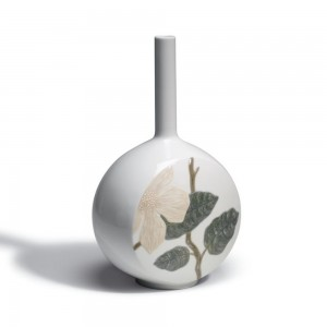 Canvas Vase Flower Twig (White) 1007074 - Lladro