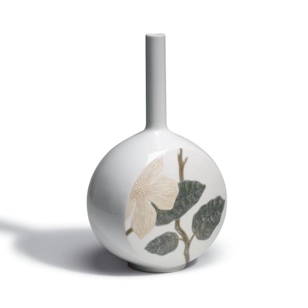 Canvas Vase Flower Twig (White) 1007074 - Lladro