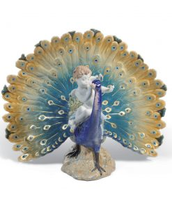 Cherub on a Peacock 01001961 - Lladro Figurine