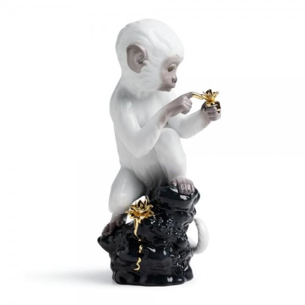 Curiosity - Monkey on Black Rock 1007237  - Lladro