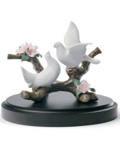Doves On A Cherry Tree 01008422 - Lladro Figurine