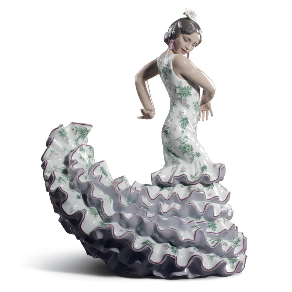 Flamenco Flare Green & Purple 01008766 - Lladro Figurine